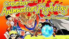 Creetor Animation Fighting Luffy VS Naruto