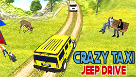 Crazy Taxi Jeep Drive Game